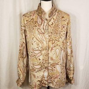 Alfred Dunner  sz 10 long sleeve shirt top
